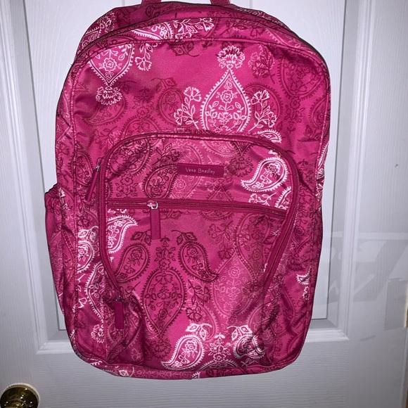 Used once for road trip vera Bradley pink backpack